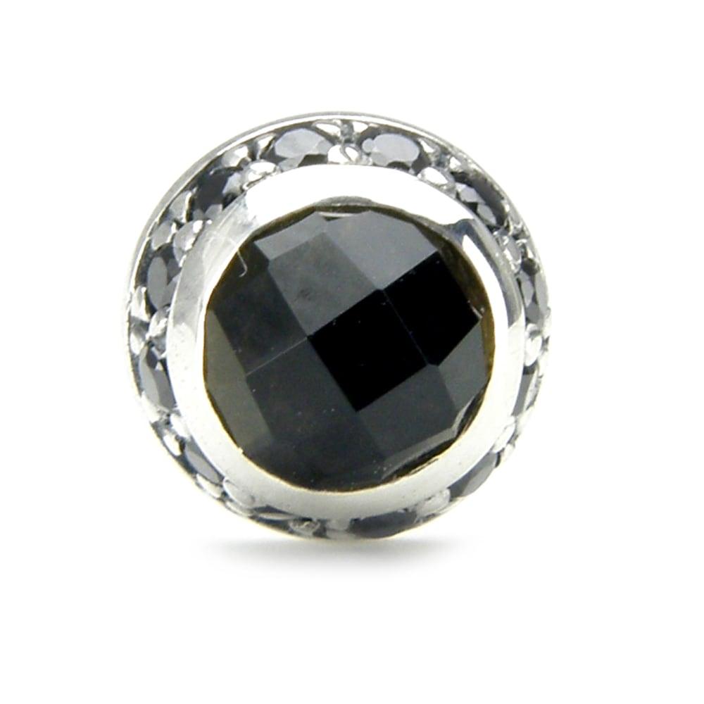ラウンドスモーキークォーツピアス ACE0071 Round smoky quartz earrings