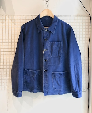 Vintage French Moleskin Work Jacket 1940s