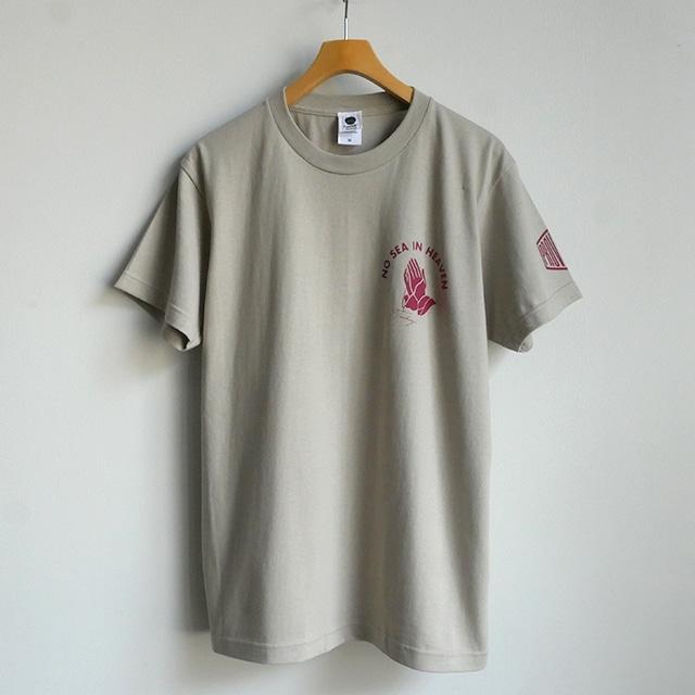 Tシャツ NO SEA IN HEAVEN シルバーグレー