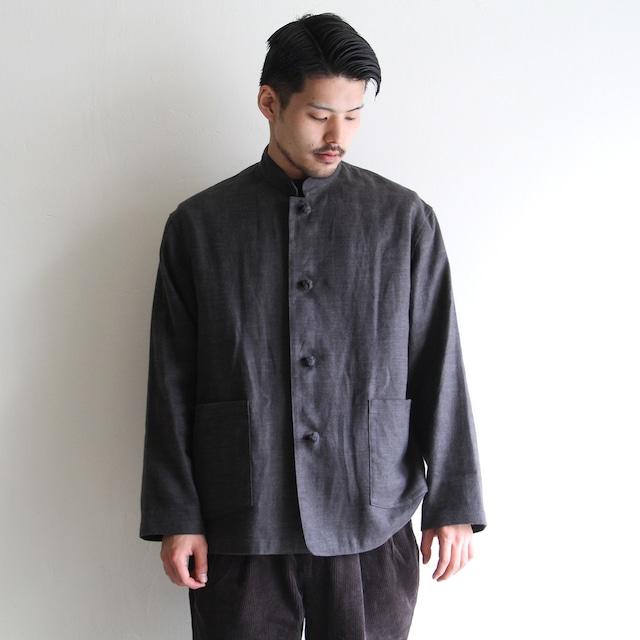 STILL BY HAND【 mens 】open collar jacket