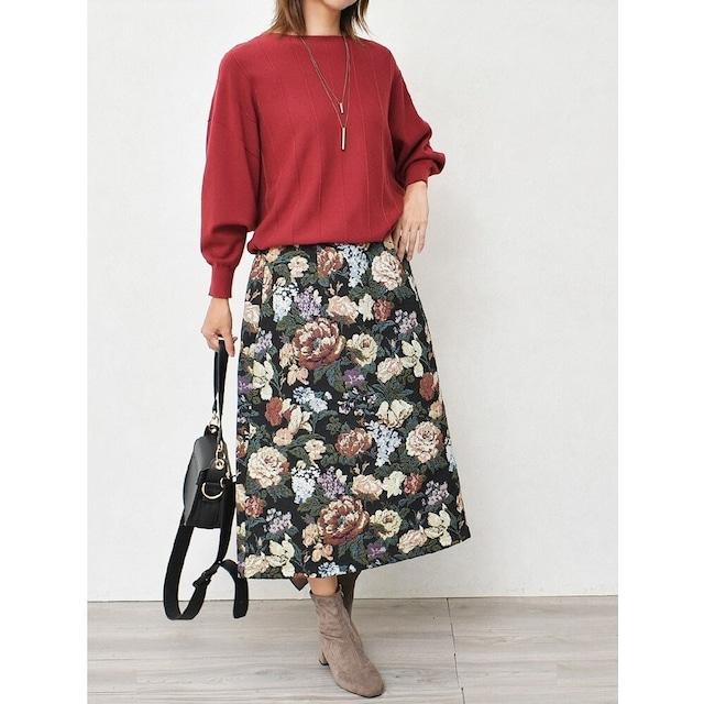 ゴブラン生地の贅沢スカート