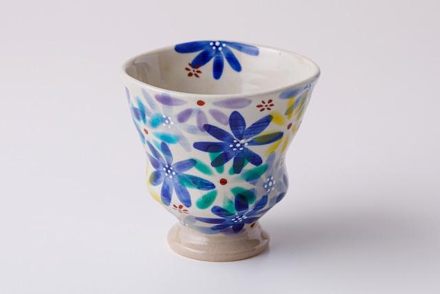 湯呑ペコ 花の宴-utage-青