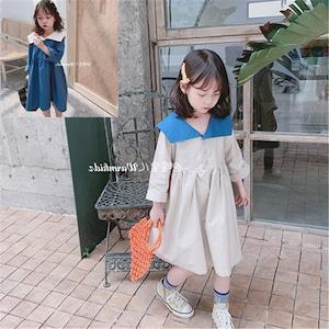子供服 キッズ 長袖ワンピース ドレス ベビー ジュニア 女の子ドレス ガールズ 参考身長100-130cm 8304
