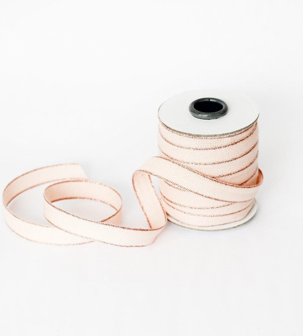 Drittofilocottonribbon   spool of 20 yards Blush/Rose gold【Studio Carta】/コットンリボン スタジオカルタ