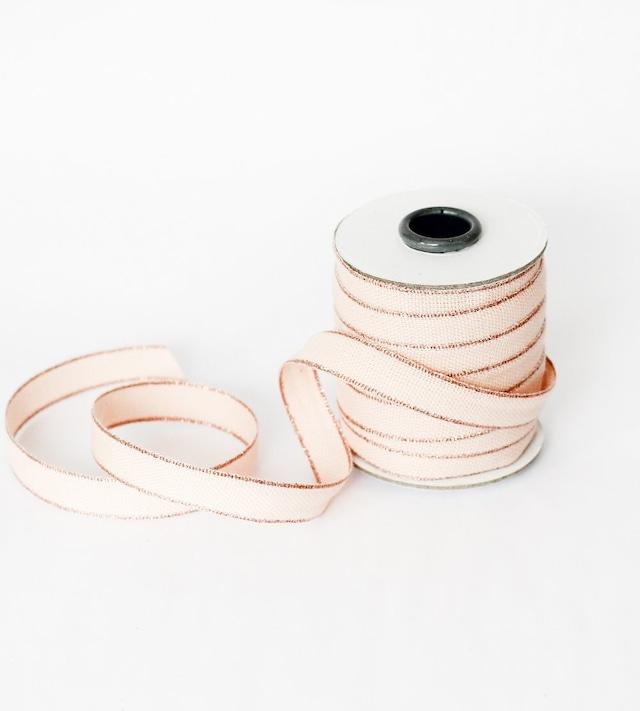 Drittofilocottonribbon | spool of 20 yards Blush/Rose gold【Studio Carta】/コットンリボン スタジオカルタ