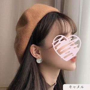 11色/ウールベレー帽 ・4333