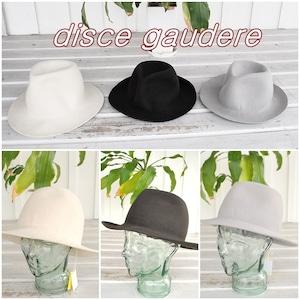 disce gaudere / ディスケ ガウデーレ a/f Fedra Hat 帽子 つば広ハット メンズ レディース フェルト フェルトハット 中折れハット