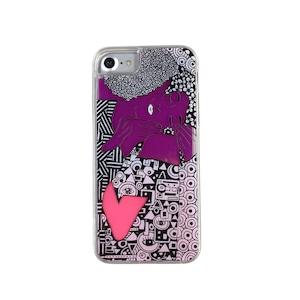 ARTiFY iPhone SE(第2世代)/6/6s/7/8 ネオンサンドケース クリムト キス ピンク/レッド AJ00492