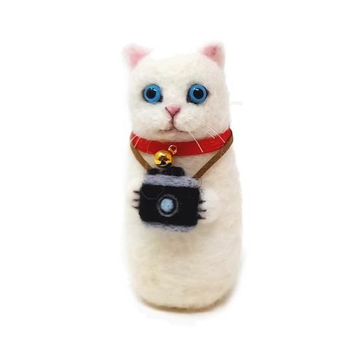【カメラねこ】ゆきねこ(白)