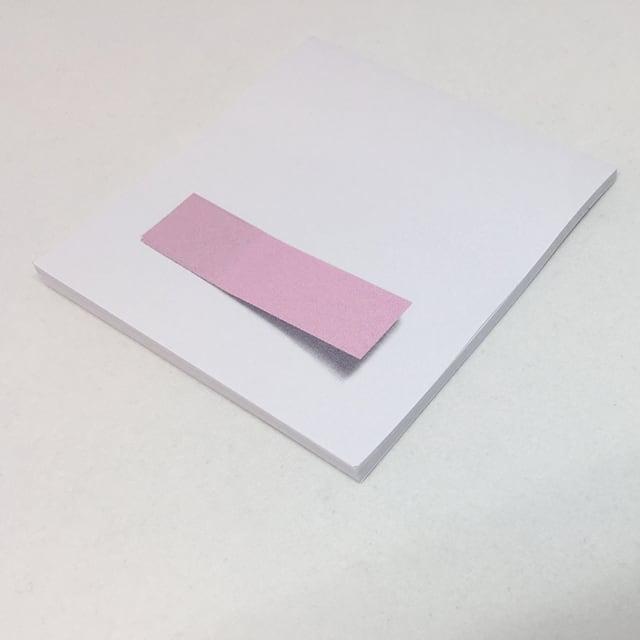 錯視トリックふせん「付箋on付箋」by Mozu(ピンク)
