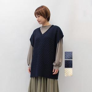 FLORENT(フローレント) CABLE KNIT VEST 2021秋冬物新作 [送料無料]