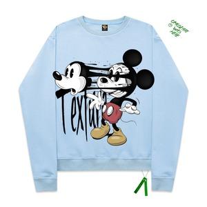 【SELECT】Mickey Mouseパロディプリントスウェットトップス