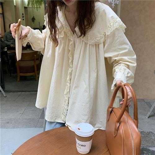 ガーリーレースカラーシャツ RD8057