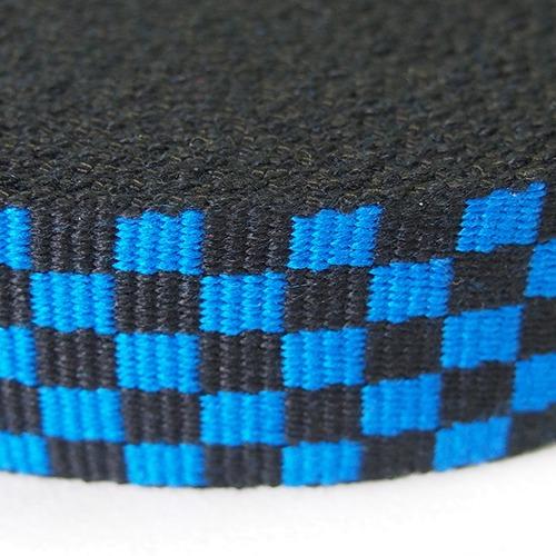 店頭ワゴンセール m単価55円アクリル フラッグチェックテープ 32mm ブルー×ブラック 6m