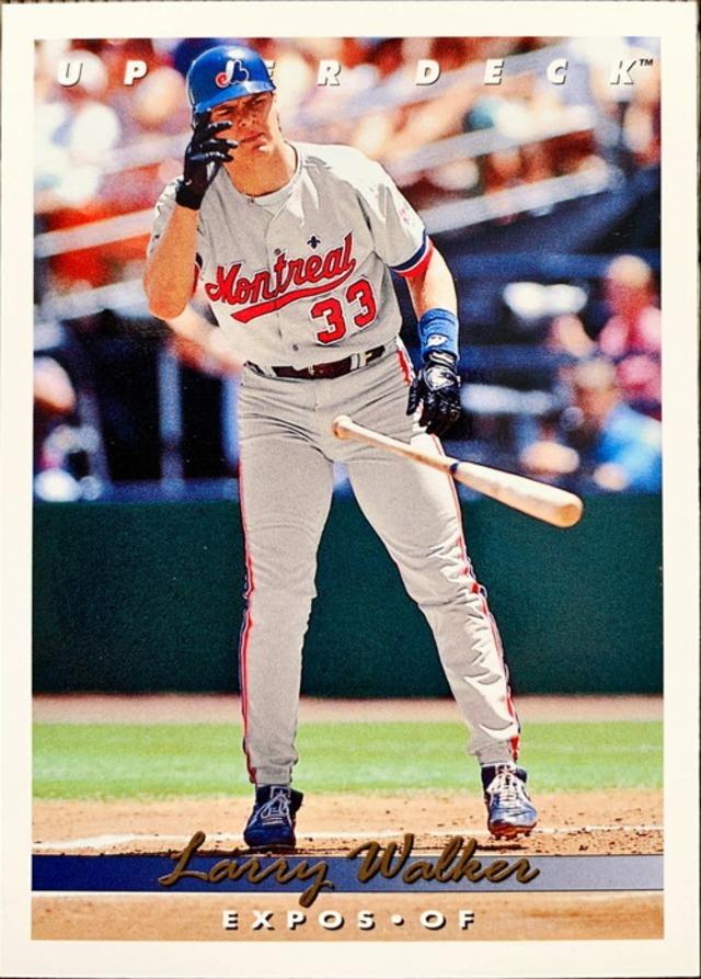 MLBカード 93UPPERDECK Larry Walker #144 EXPOS
