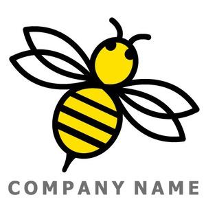蜂イメージ ロゴデザイン