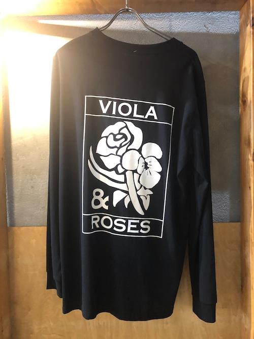 VIOLA&ROSES VR LONG T モノクロNO.02BK