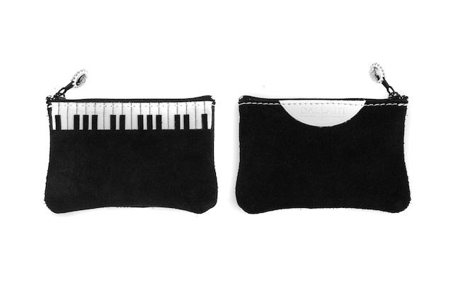 鍵盤柄 レザーポーチ イタリア製 DALLAITI 【Mサイズ 18cm x 10cm】