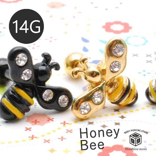 ボディピアス 14G ミツバチ 蜂 ボディーピアス 軟骨ピアス 人気 TBP080
