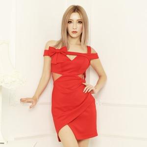 弓でドレスアップミニドレスYN8026