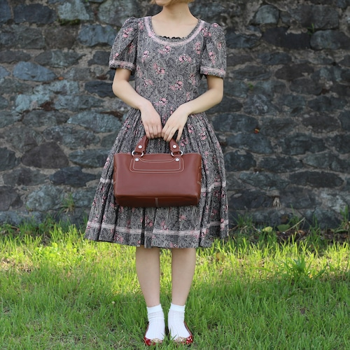 FRENCH VINTAGE PAISLEY PTTERNED HALF SLEEVE ONE PIECE/フランス古着ペイズリー柄半袖ワンピース