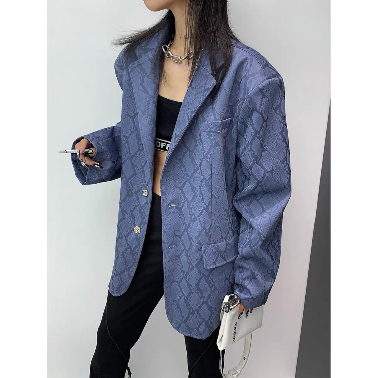 snake pattern jacket