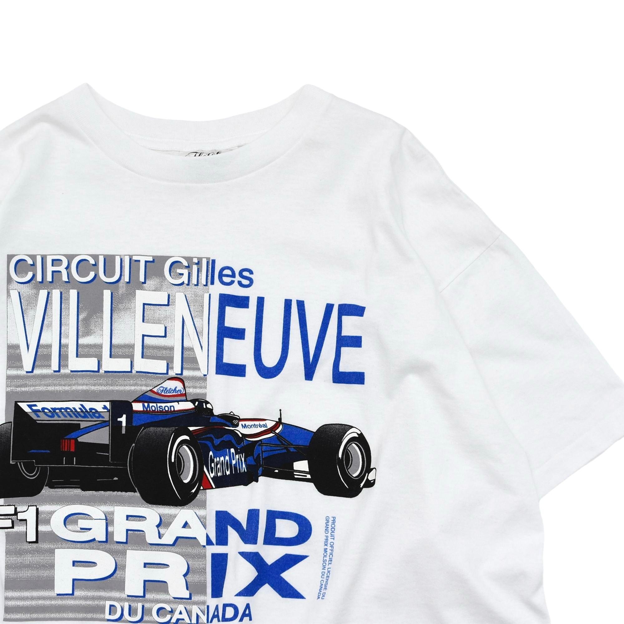 "90s Formula 1 ""Gilles VILLENEUVE"" motorsport print T shirt"