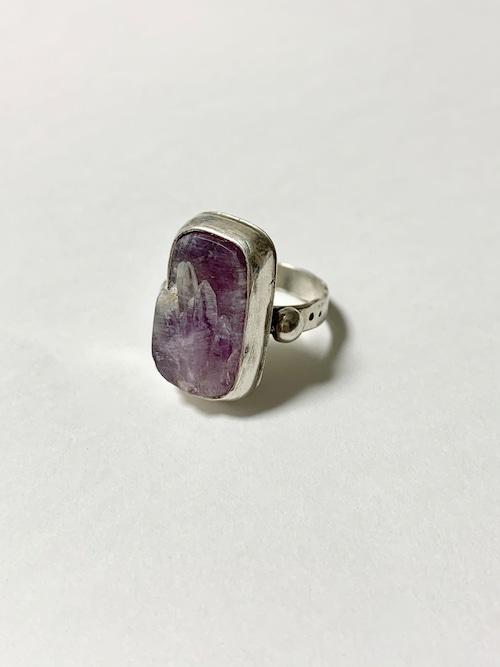 Tibetan Hand Made Gemstone & 925 Silver Ring