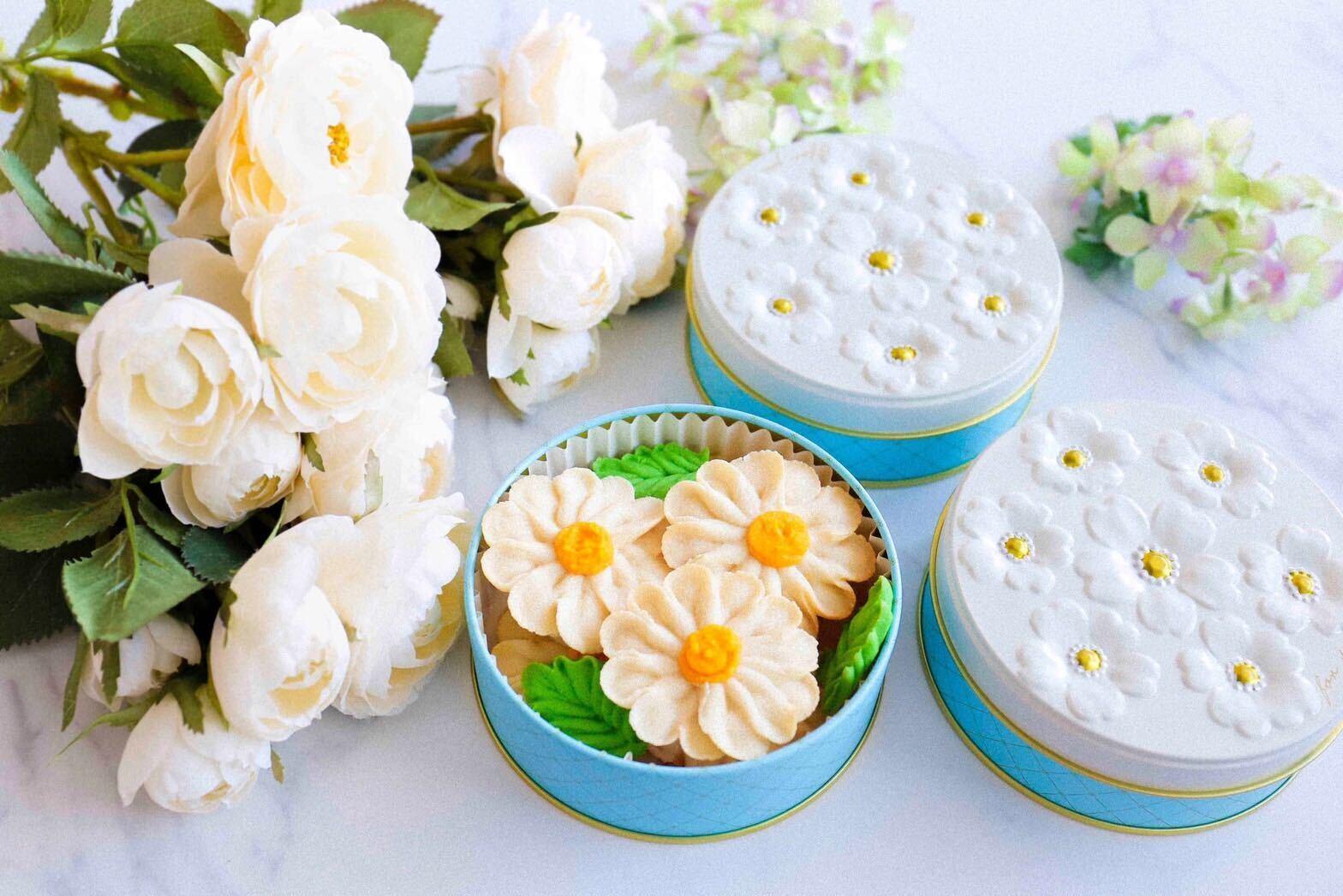 【マーガレット】お花のぼうろ<3缶セット>