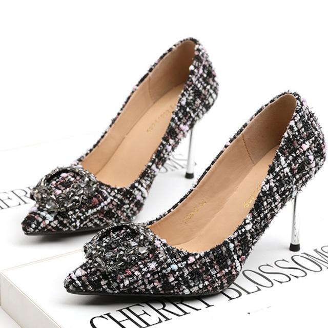 パンプス 痛くない 黒 ブラック 結婚式 ヒール パーティー キラキラ 脱げない フォーマル 歩きやすい ヒール キャバ嬢 大きいサイズ  靴 白 レディース