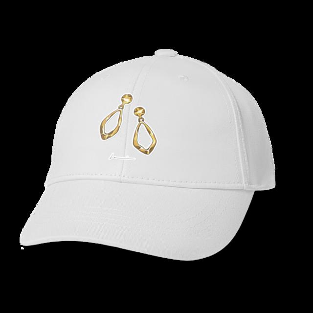 ゴールドのイヤリング キャップ