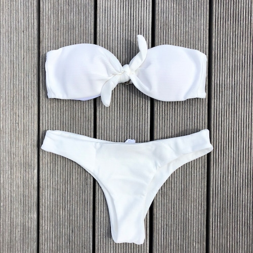 Bikini♡フロントタイバンドゥビキニ ホワイト GSB18S073WHT