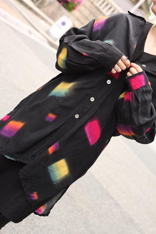 90s euro rayon big shirt