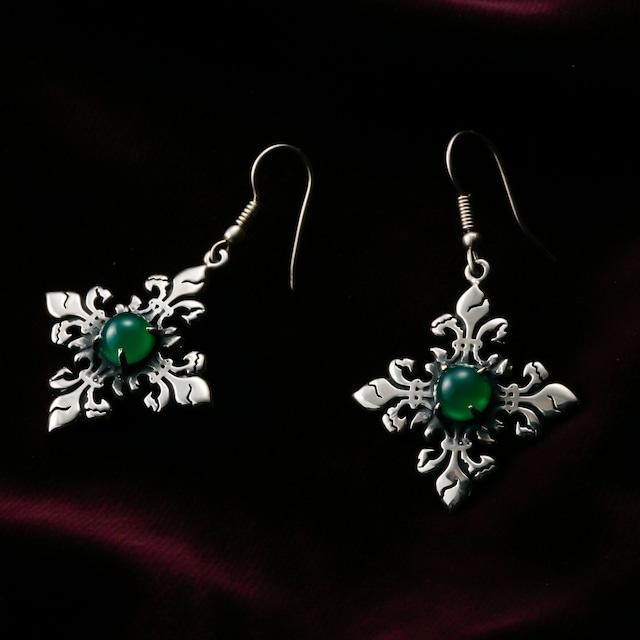 Water Pearl Skull Object Beads Pierced Earrings