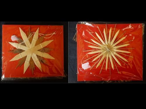 ドイツクリスマス  ストロー オーナメント 藁飾り  星飾り2P