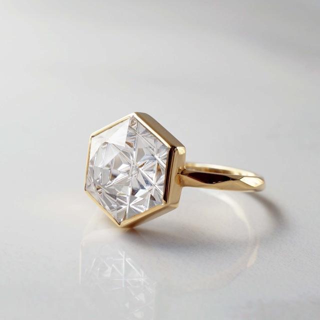 Quartz KIRIKO Ring (Hexagon 10 / R165-CQ)