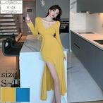 No1257 韓国ワンピース きれいめワンピース 大人可愛いワンピース フレアワンピース パーティードレス 2color
