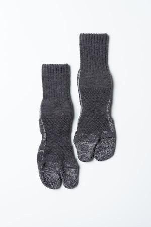 84N Wool Socks(Charcoal × Gray)