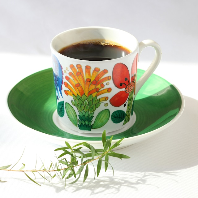 Gustavsberg グスタフスベリ Tahiti タヒチ コーヒーカップ&ソーサー - 7 北欧ヴィンテージ