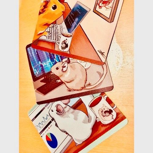 意識高いげっ歯類達のマウスパッド【受注生産】