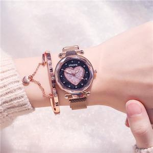 デザイン ハート 高級感 プレゼント 合わせやすい おしゃれ レディース 腕時計 <ins-2084>