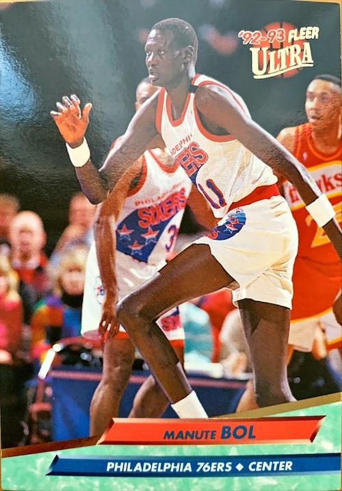NBAカード 92-93FLEER Manute Bol #136 76ERS