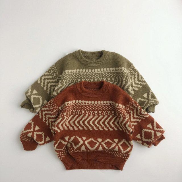 【お取り寄せ】80-130  ビンテージセーター 子供 キッズ 赤ちゃん 秋冬  ニット
