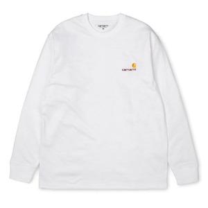 【Carhartt WIP】 L/S AMERICAN SCRIPT T-SHIRT - White カーハート 長袖 Tシャツ