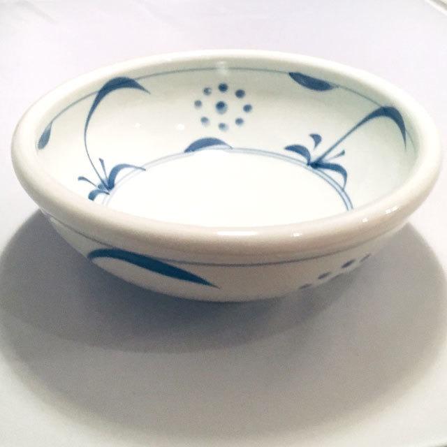 【砥部焼/梅山窯】7寸玉縁鉢(太陽)