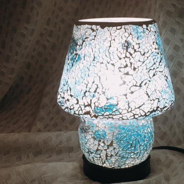 ミルグラス テーブルランプ ブルー