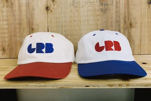 Abbreviation logo Cap【White Blue / Natural Red】