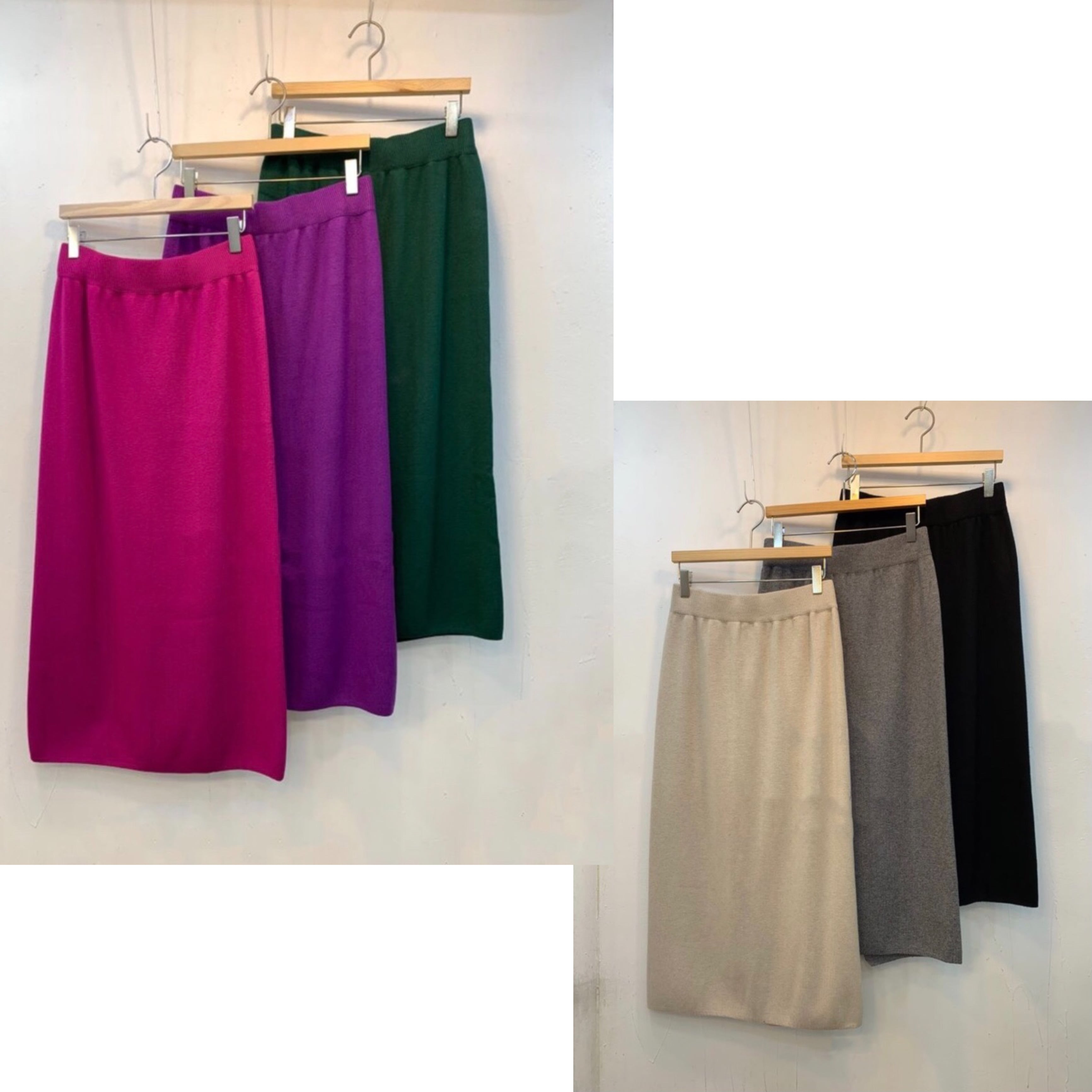 KNIT TIGHT SKIRT -6color-