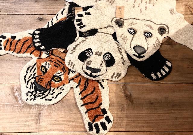 【再入荷】TEPEE ZOO ラグマット《トラ/シロクマ/パンダ》