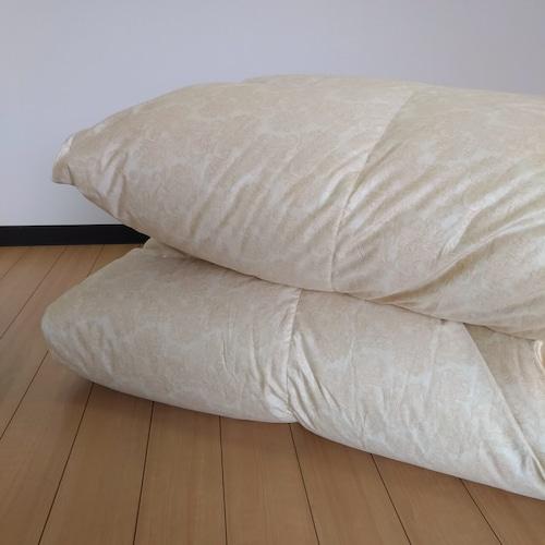 D-羽毛掛ふとん 【マース】 ダブル カナダマザーホワイトグースダウン−CONキルト (80サテン/1.7kg)